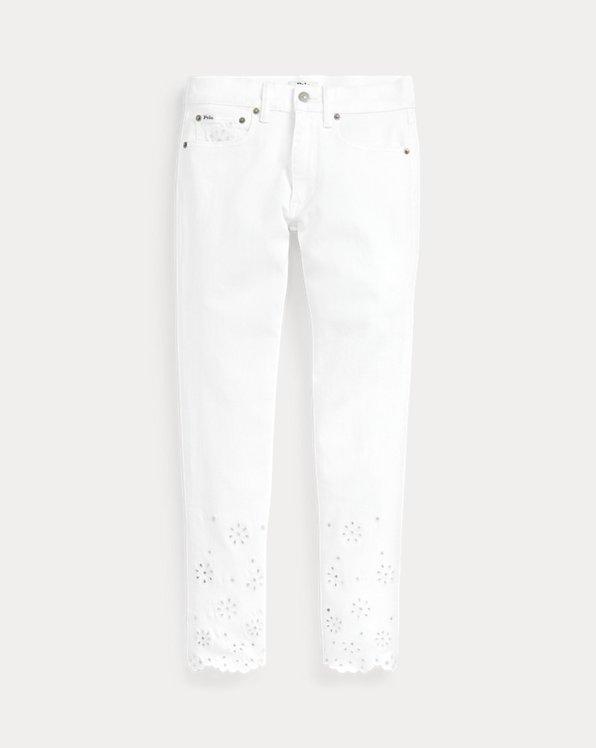 폴로 랄프로렌 Polo Ralph Lauren Tompkins Skinny Crop Jean,White