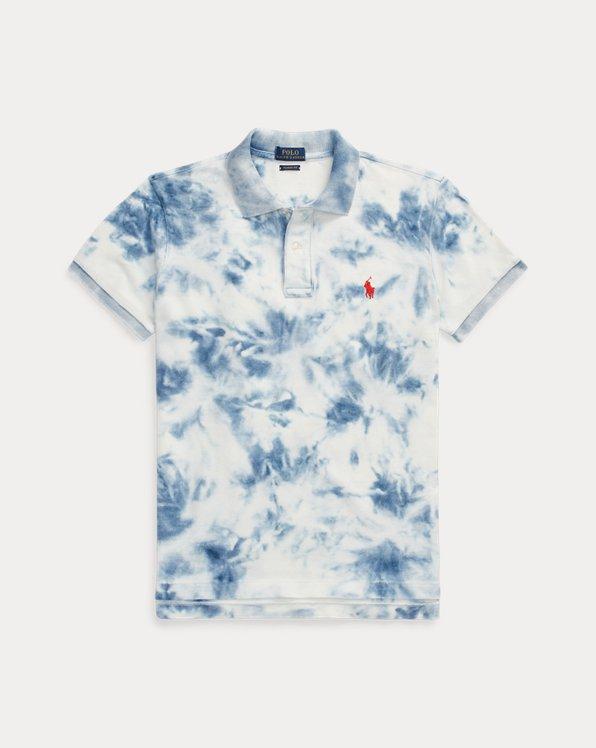 폴로 랄프로렌 Polo Ralph Lauren Indigo Tie-Dye Polo Shirt,Dark Indigo Bleach Out