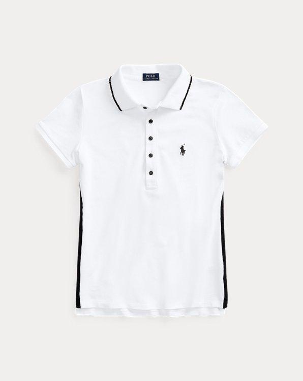 폴로 랄프로렌 Polo Ralph Lauren Beaded-Trim Polo Shirt,White