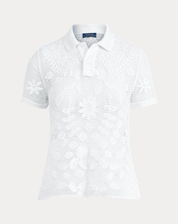 폴로 랄프로렌 Polo Ralph Lauren Lace Polo Shirt,White