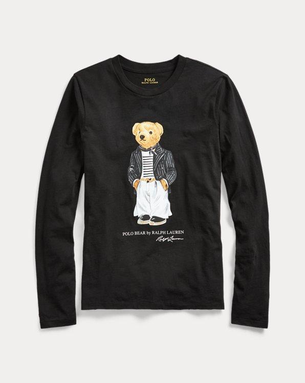 폴로 랄프로렌 우먼 셔츠 Polo Ralph Lauren Polo Bear Crewneck Shirt,Polo Black