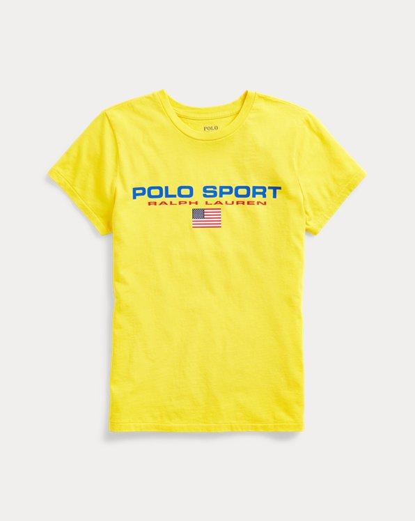 폴로 랄프로렌 Polo Ralph Lauren Polo Sport Crewneck Tee,University Yellow