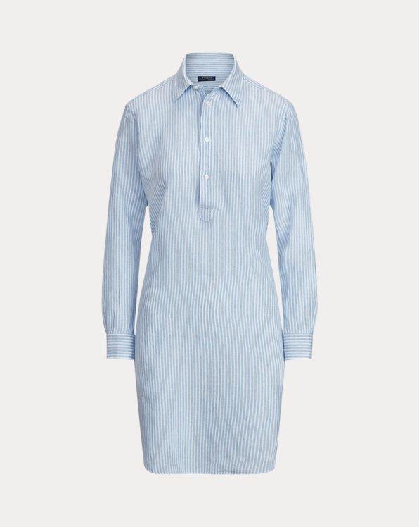 폴로 랄프로렌 '린넨' 스트라이프 튜닉 Polo Ralph Lauren Striped Linen Tunic,Blue/White