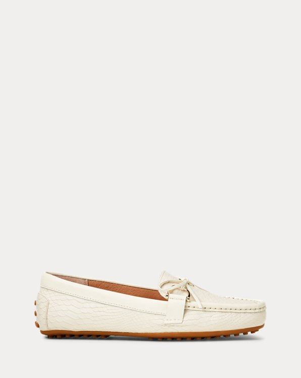 폴로 랄프로렌 Polo Ralph Lauren Briley II Leather Loafer,Vanilla/Vanilla