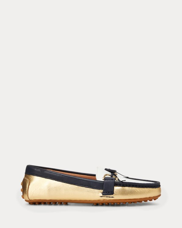 폴로 랄프로렌 Polo Ralph Lauren Briley II Leather Loafer,Color Block Multi