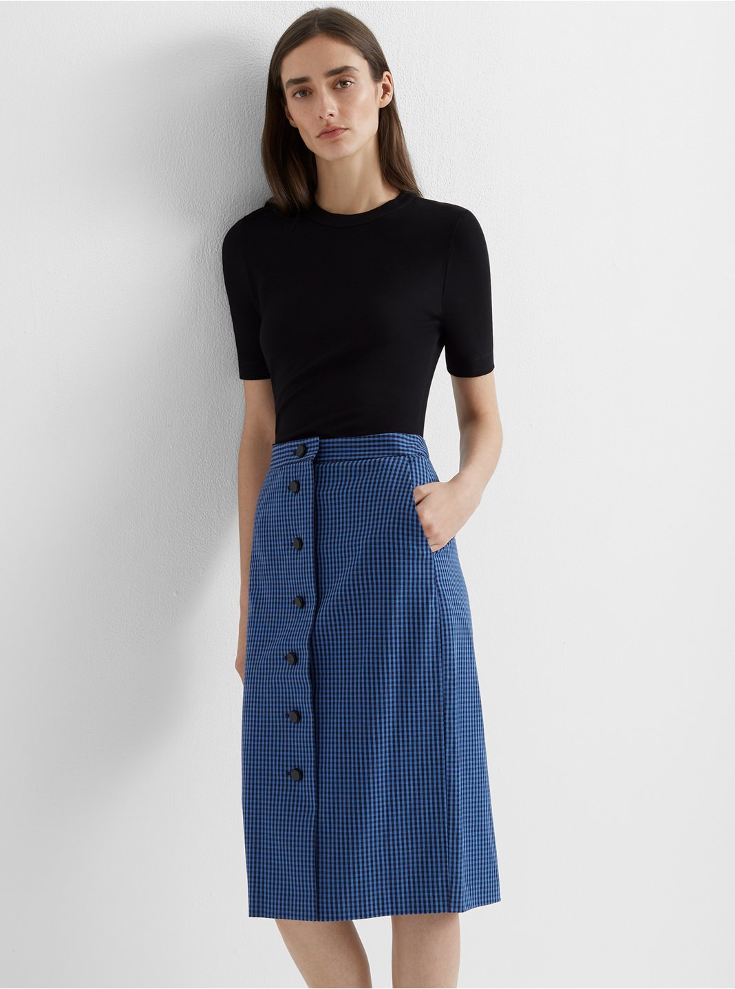 클럽 모나코 펜슬 스커트 Club Monaco Pattern Pencil Skirt,Blue Multi