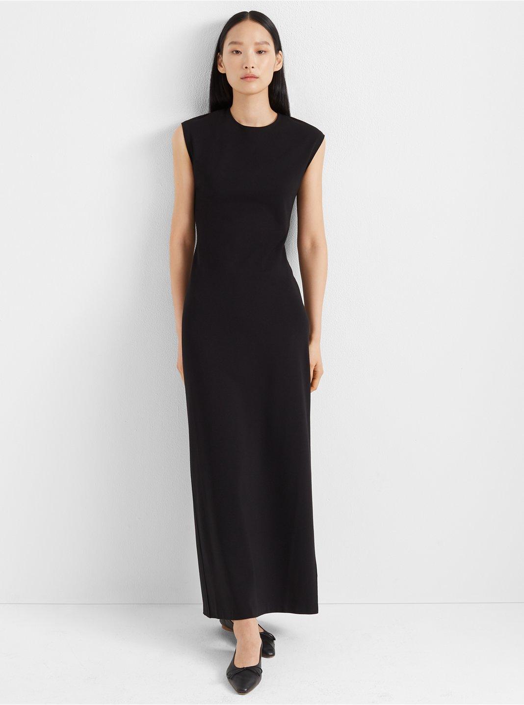 클럽 모나코 Club Monaco Polished Ponte Knit Dress,Black
