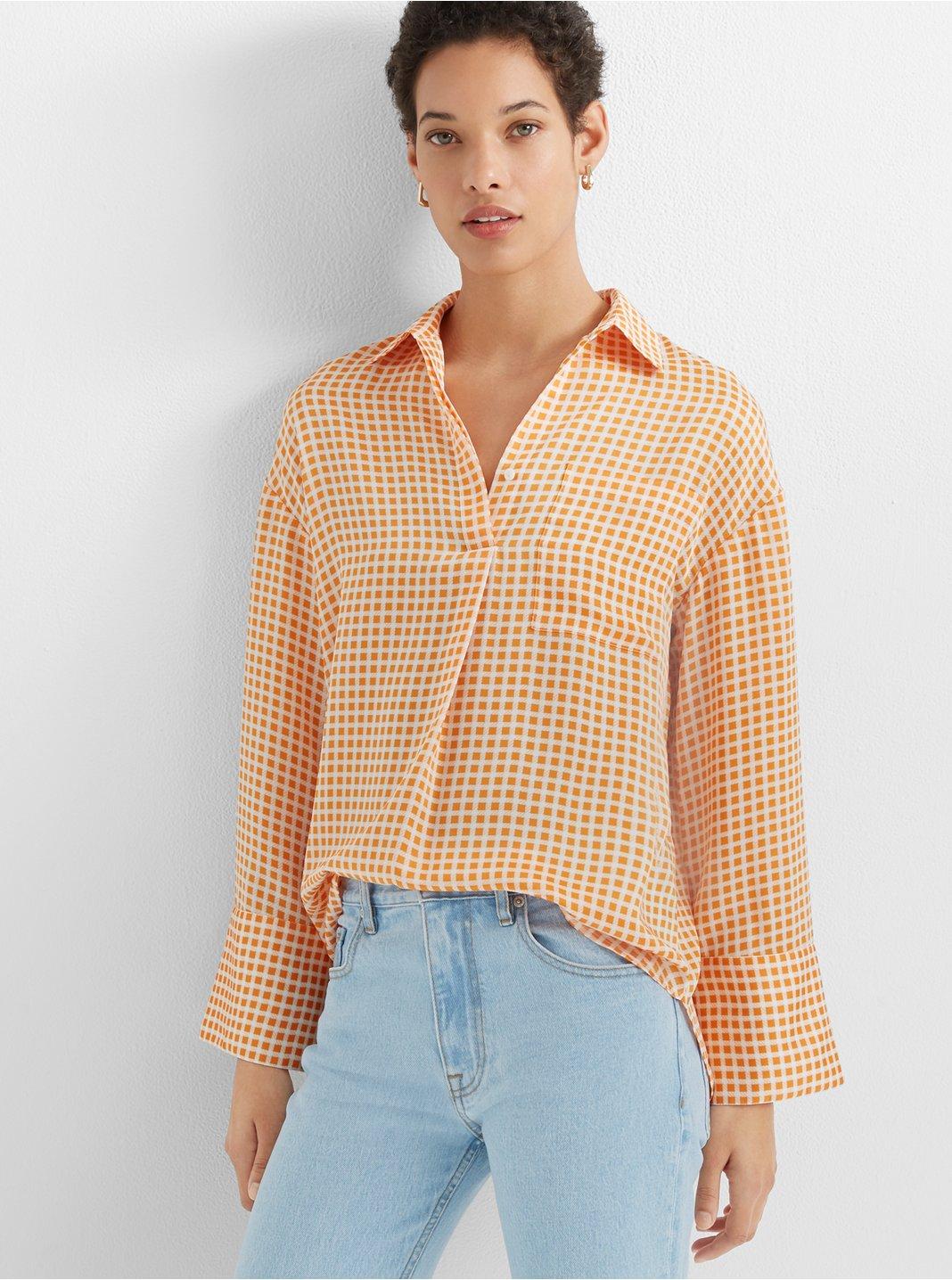 클럽 모나코 Club Monaco Popover Pocket Shirt,Gingham Multi