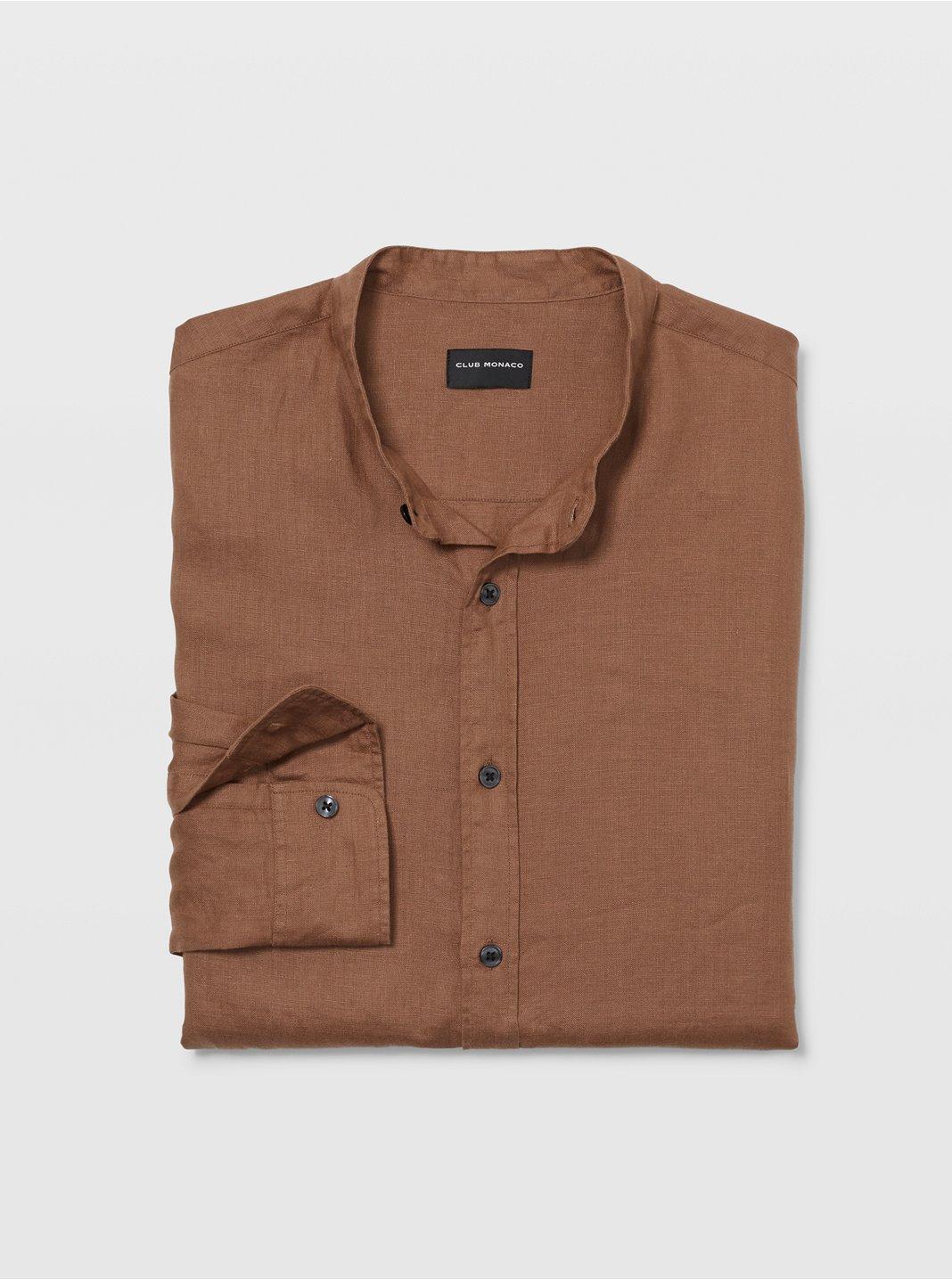 클럽 모나코 맨 셔츠 Club Monaco Band Collar Linen Shirt