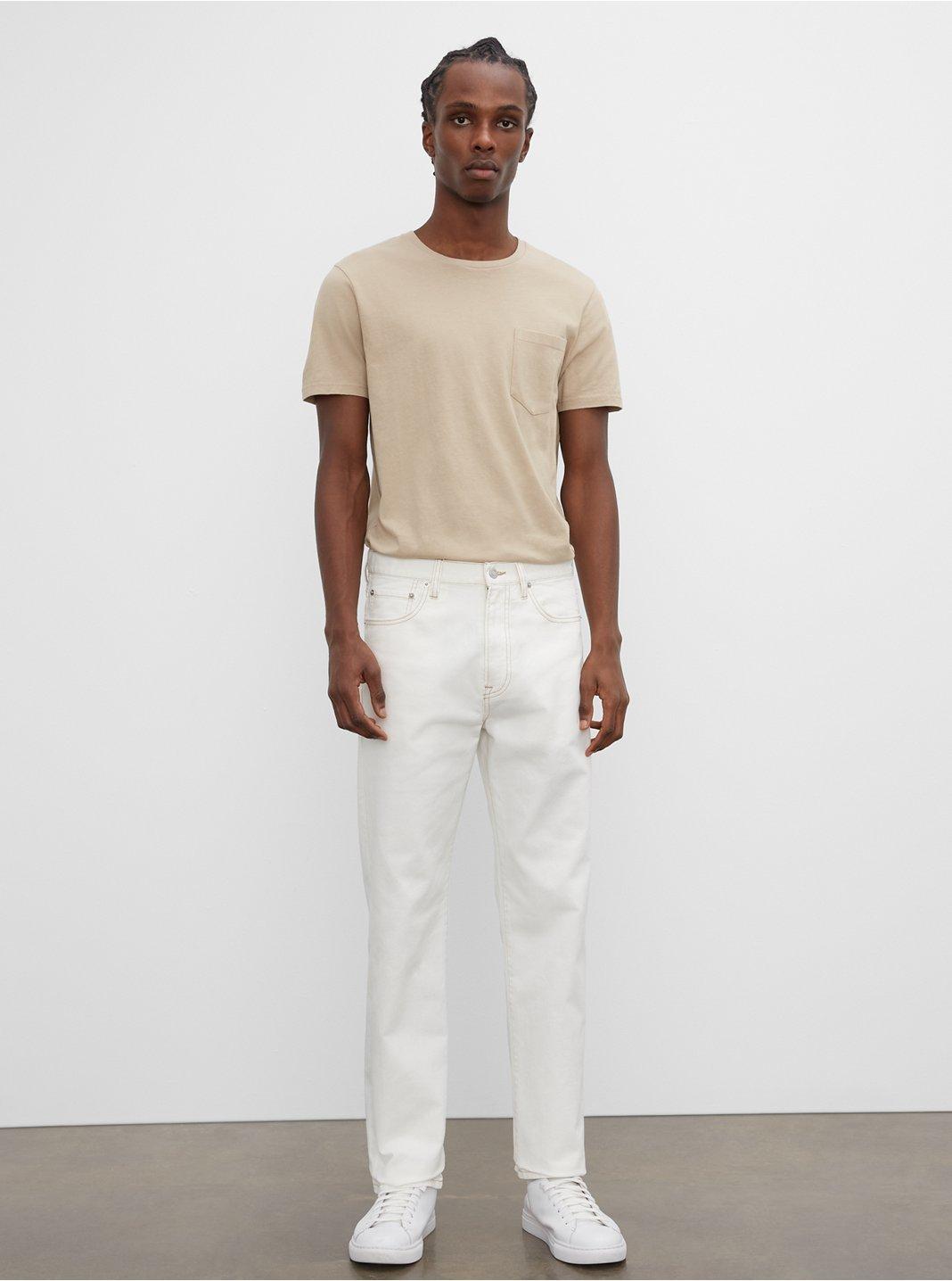 클럽 모나코 맨 청바지 Club Monaco Straight Fit Jean,Crescent Cream
