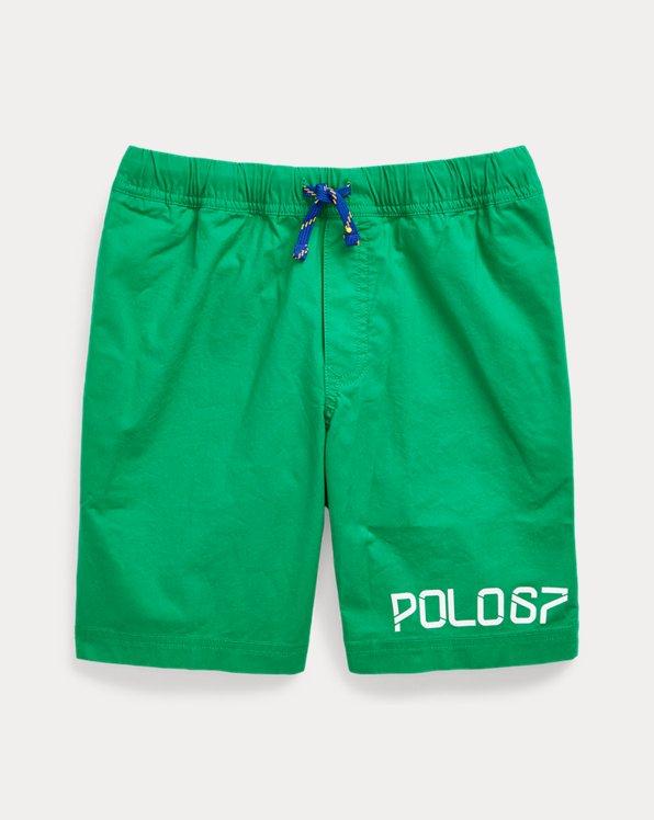 폴로 랄프로렌 보이즈 반바지 Polo Ralph Lauren Stretch Cotton Poplin Short,Chroma Green