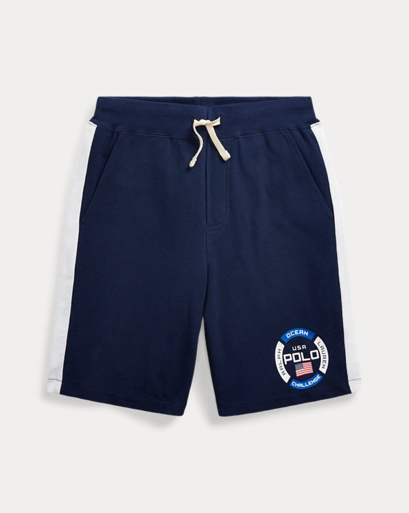 폴로 랄프로렌 보이즈 반바지 Polo Ralph Lauren Cotton Mesh Graphic Short,Newport Navy