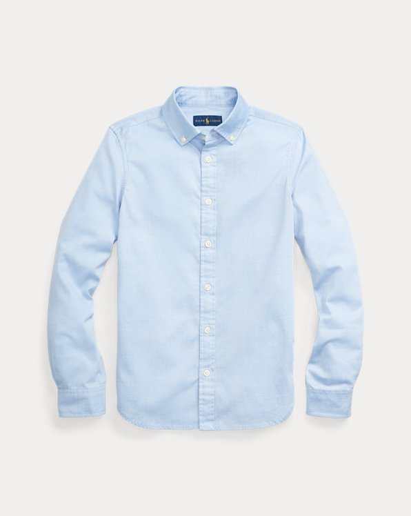 폴로 랄프로렌 걸즈 셔츠 Polo Ralph Lauren Girls Oxford Shirt,Blue Hyacinth