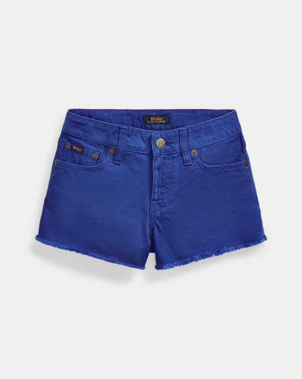 폴로 랄프로렌 걸즈 청반바지 Polo Ralph Lauren Polo Cotton Denim Short,Bevy Wash Cruise Royal
