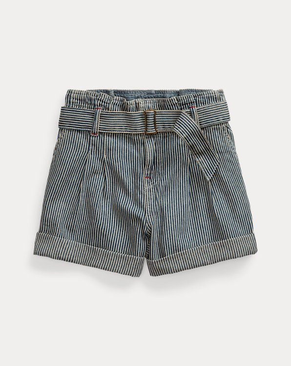 폴로 랄프로렌 걸즈 반바지 Polo Ralph Lauren Belted Cotton Paperbag Short,Leanna Wash