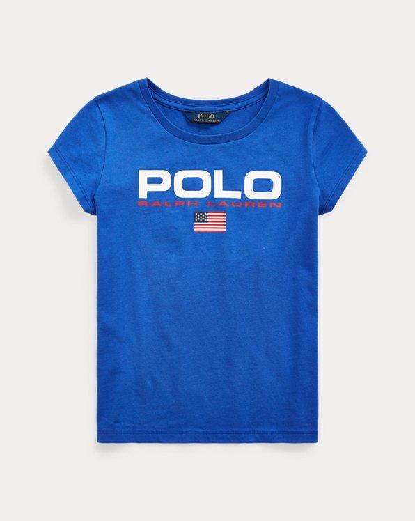 폴로 랄프로렌 걸즈 티셔츠 Polo Ralph Lauren Cotton Jersey Graphic Tee,Cruise Royal