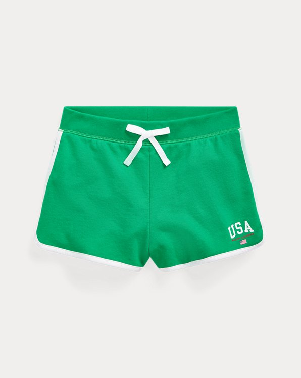 폴로 랄프로렌 걸즈 반바지 Polo Ralph Lauren USA French Terry Short,Chroma Green