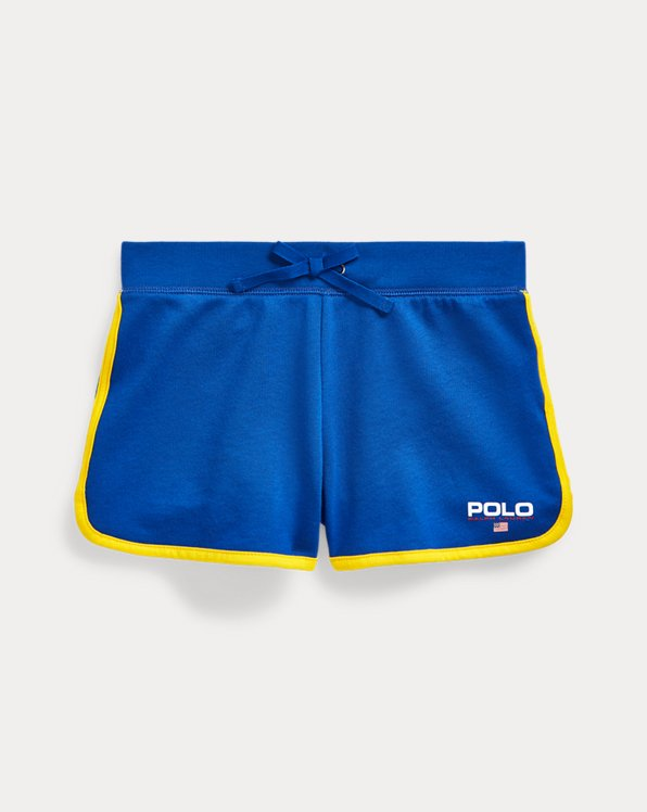 폴로 랄프로렌 걸즈 반바지 Polo Ralph Lauren French Terry Graphic Short,Cruise Royal