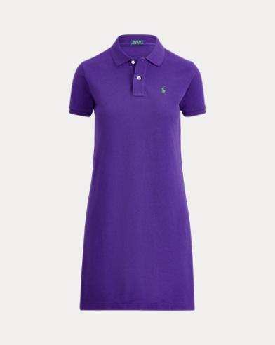 폴로 랄프로렌 폴로 원피스, 코튼 매쉬 - 샬레 퍼플 Polo Ralph Lauren Cotton Mesh Polo Dress