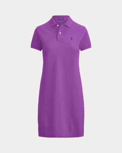 폴로 랄프로렌 폴로 원피스, 코튼 매쉬 - 팔로마 퍼플 Polo Ralph Lauren Cotton Mesh Polo Dress