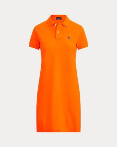 폴로 랄프로렌 폴로 원피스, 코튼 매쉬 - 세일링 오렌지 Polo Ralph Lauren Cotton Mesh Polo Dress