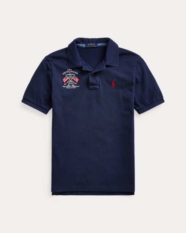 폴로 랄프로렌 보이즈 폴로 셔츠 Polo Ralph Lauren Americana Cotton Mesh Polo,Cruise Navy