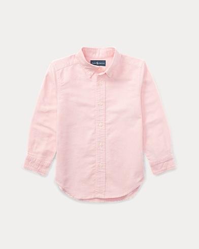 폴로 랄프로렌 남아용 옥스포드 셔츠 핑크 Polo Ralph Lauren Blake Cotton Oxford Shirt,Pink