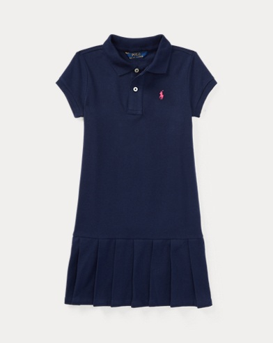 폴로 랄프로렌 여아용 원피스 네이비 Polo Ralph Lauren Pleated Cotton Polo Dress,French Navy