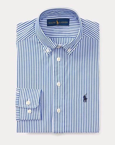폴로 랄프로렌 보이즈 드레스 셔츠 블루 Polo Ralph Lauren Striped Cotton Dress Shirt,Football Blue
