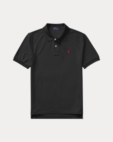 폴로 랄프로렌 보이즈 반팔 카라티 블랙 Polo Ralph Lauren Cotton Mesh Polo Shirt,Black