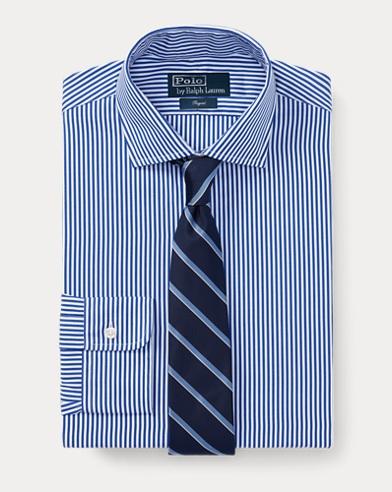 폴로 랄프로렌 Polo Ralph Lauren Custom Fit Striped Shirt,Royal/White