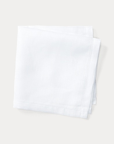 폴로 랄프로렌 Polo Ralph Lauren Linen Pocket Square,White