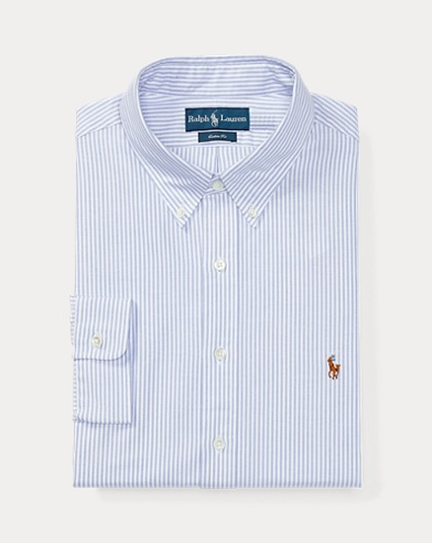 폴로 랄프로렌 커스텀핏 스트라이프 셔츠 Polo Ralph Lauren Custom Fit Striped Shirt,Blue Night / White