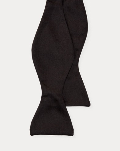 폴로 랄프로렌 Polo Ralph Lauren Silk Butterfly Bow Tie,Black Satin