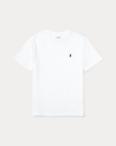 폴로 랄프로렌 남아용 반팔 티셔츠 화이트 Polo Ralph Lauren Cotton Jersey Crewneck T-Shirt,White