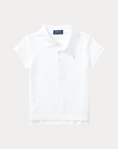 폴로 랄프로렌 여아용 반팔 카라티 화이트 Polo Ralph Lauren Short Sleeve Polo
