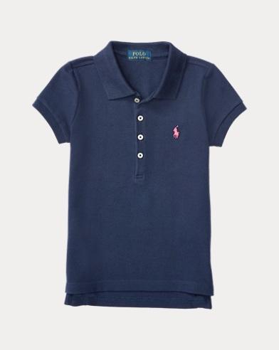 폴로 랄프로렌 여아용 반팔 카라티 네이비 Polo Ralph Lauren Short Sleeve Polo