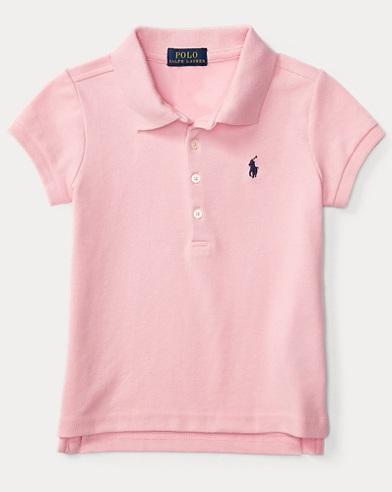 폴로 랄프로렌 여아용 반팔 카라티 핑크 Polo Ralph Lauren Short Sleeve Polo, Carmel Pink