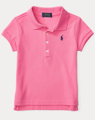폴로 랄프로렌 여아용 반팔 카라티 핑크 Polo Ralph Lauren Short Sleeve Polo,Maui Pink