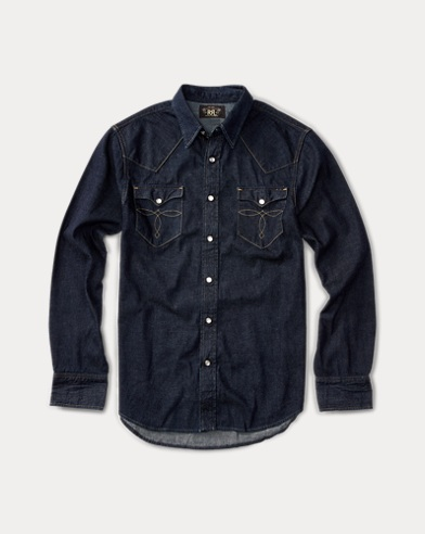 폴로 랄프로렌 Polo Ralph Lauren Slim Fit Denim Western Shirt,Rinse Wash