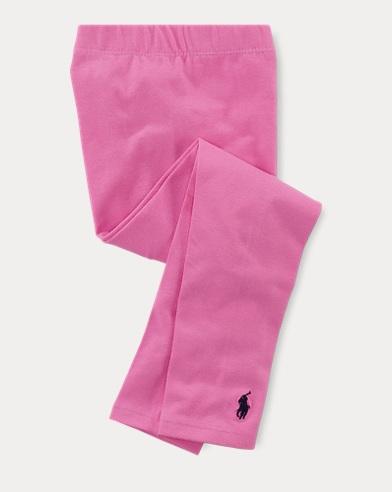 폴로 랄프로렌 여아용 레깅스 핑크 Polo Ralph Lauren Stretch Legging,Pink