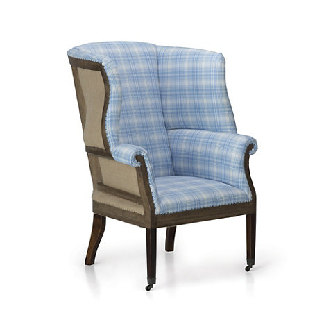 Hepplewhite Wing Chair, Deconstructed Back   Chairs / Ottomans   Furniture    Products   Ralph Lauren Home   RalphLaurenHome.com