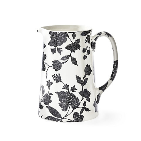 Garden Vine Tankard Pitcher, Black