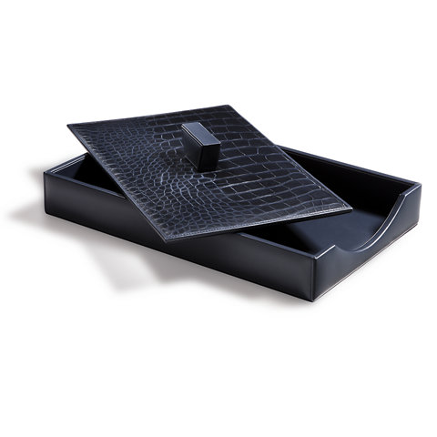 Southwark Paper Tray Navy Desk Accessories Tabletop Accents Products Ralph Lauren Home Ralphlaurenhome