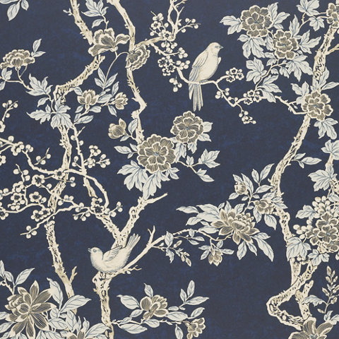 Marlowe Floral - Prussian Blue