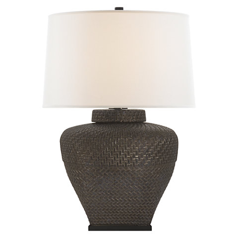 Isla Small Table Lamp In Crystal Bronze With Linen Shade Lamps Lighting Products Ralph Lauren Home Ralphlaurenhome