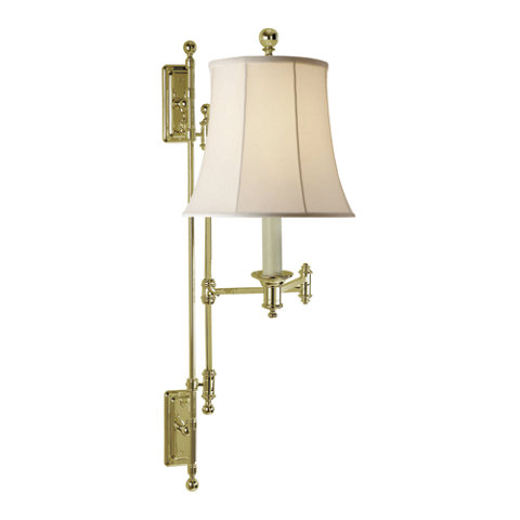 Kerry swing arm wall lamp in natural brass wall lamps sconces kerry swing arm wall lamp in natural brass wall lamps sconces lighting products ralph lauren home ralphlaurenhome aloadofball Choice Image