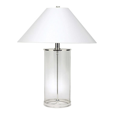 Modern Table Lamp In Polished Silver   Table Lamps   Lighting   Products   Ralph  Lauren Home   RalphLaurenHome.com