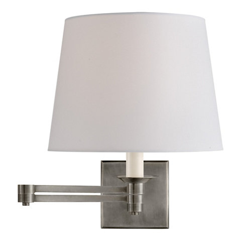 Evans Swing Arm Sconce Antique Nickel Wall Lamps Sconces Lighting Products Ralph Lauren Home Ralphlaurenhome