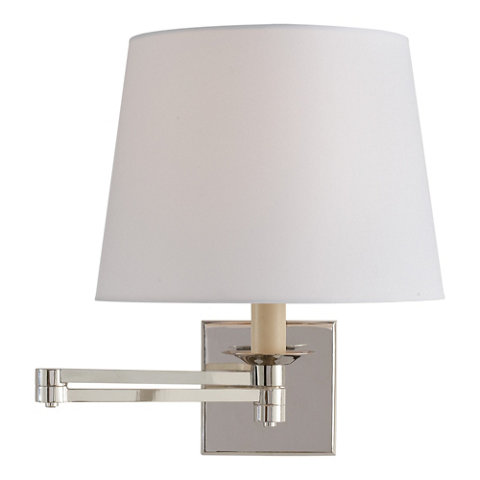 Evans Swing Arm Sconce Polished Nickel Wall Lamps Sconces Lighting Products Ralph Lauren Home Ralphlaurenhome